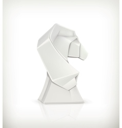 Paper horse origami vector image vector image
