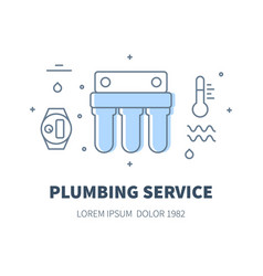 plumbing service concept vector image vector image