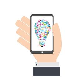 Smart phone idea social network background vector image vector image