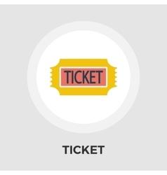 Ticket flat icon vector