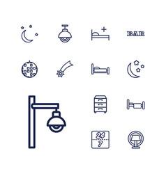 13 night icons vector