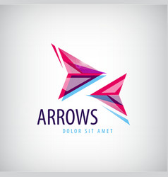 Abstract arrows icon logo vector