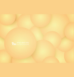 Abstract gradient bubble design yellow pattern vector
