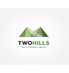 Abstract green hills logo icon concept vector image