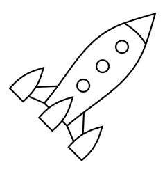 Aircraft rocket icon outline style vector image