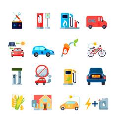 alternative energy icons set vector image