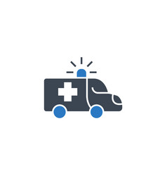 ambulance car related glyph icon vector image