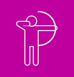 archery outline sport figure symbol graphic vector image