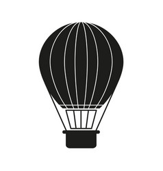 Ballon black holiday icon vector