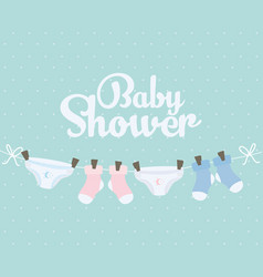Basocks and diapers hanging clothes vector