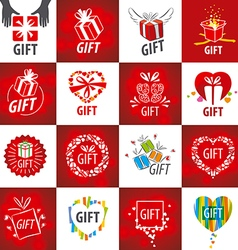 biggest collection of logos for gifts vector image