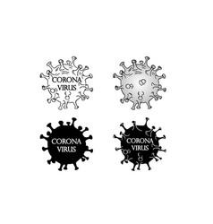 black coronavirus molecule icon vector image