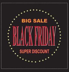 black friday big sale layout backgroundbanner vector image