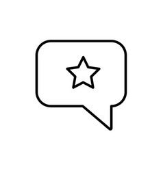 bubble chat favorite message star icon vector image