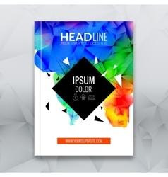 Business brochure report design template vector image