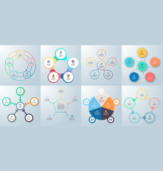 business infographics diagrams with 5 steps vector image