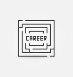 career labyrinth icon vector image