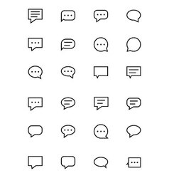 Chat Messages Line Icons 1 vector