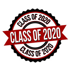 class 2020 label or sticker vector image