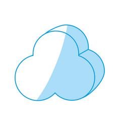 Cloud computing 3d vector