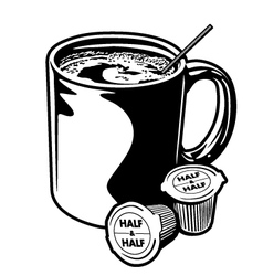 Coffee Mug and Creamer Cups vector
