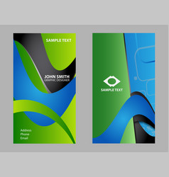 collection business card set vector image