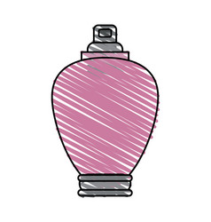 Color crayon stripe cartoon bottle fragrance vector