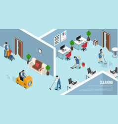 Commercial cleaning service isometric vector