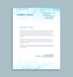 coporate business letterhead vector image
