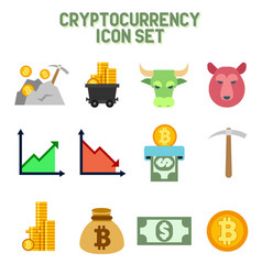 crypto currency icons vector image