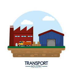 Delivery and transport industry vector