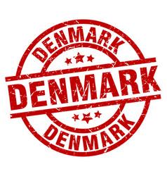 Denmark red round grunge stamp vector