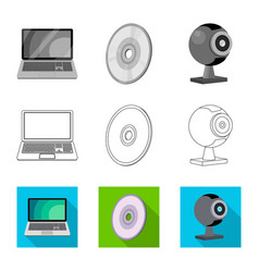 Design of laptop and device sign vector