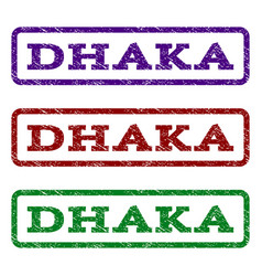 Dhaka watermark stamp vector