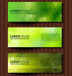 Eco set of green environmental banners vector