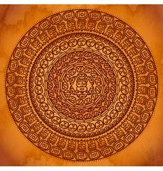 Ethnic circular ornament vector