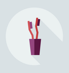 Flat modern design with shadow icons toothbrush vector