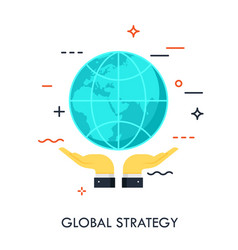 global strategy flat concept vector image