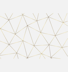 golden geometric background vector image