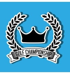 Golf championship design vector