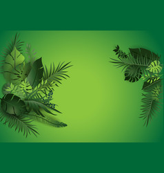 green tropical nature poster vector image