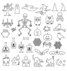 Halloween digital stamps vector