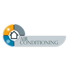 Home air conditioner infographic vector