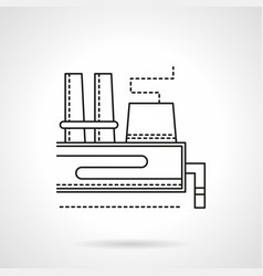 Industrial area flat line icon vector
