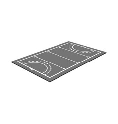 Isolated object hockey and field symbol vector