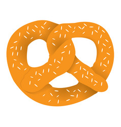 isolated pretzel icon vector image
