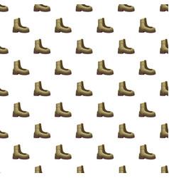 Khaki boot pattern vector