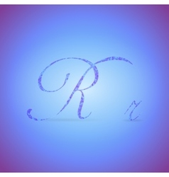Letters R with Polygonal Pattern vector