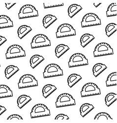 line conveyor ruler school utensil background vector image