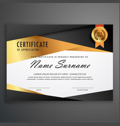 luxury certificate design template made with vector image
